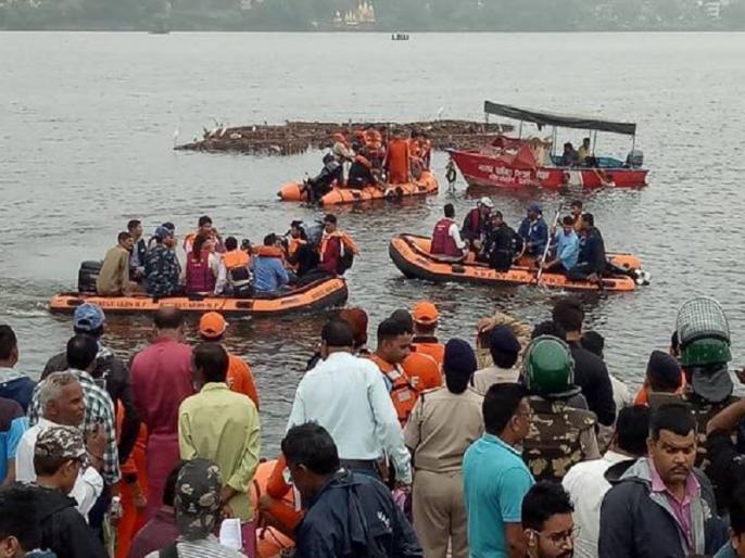 bhopal boat accident 11 killed During Immersion of Ganesh Idol video viral | भोपाल हादसे का दर्दनाक वीडियो वायरल, देखें, कैसे कुछ सेकेंड के भीतर ही झील में पलट गई नाव