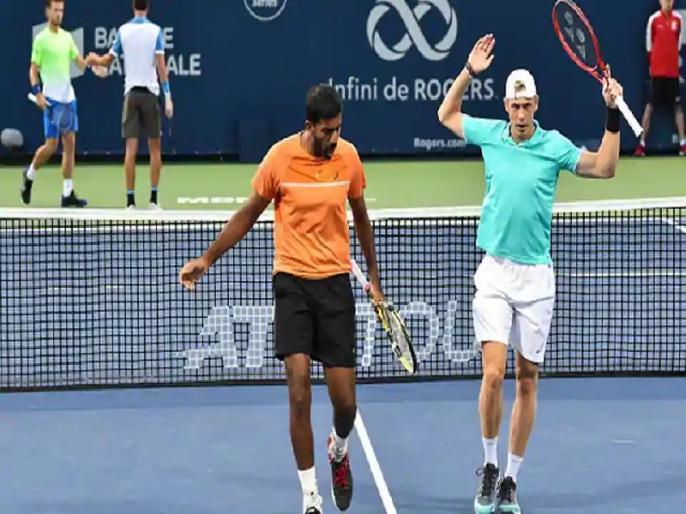 US Open: Rohan Bopanna-Shapovalov enter second round of men's doubles | US Open: बोपन्ना-शापोवालोव पुरुष डबल्स के दूसरे दौर में, सीधे सेटों में दर्ज की जीत