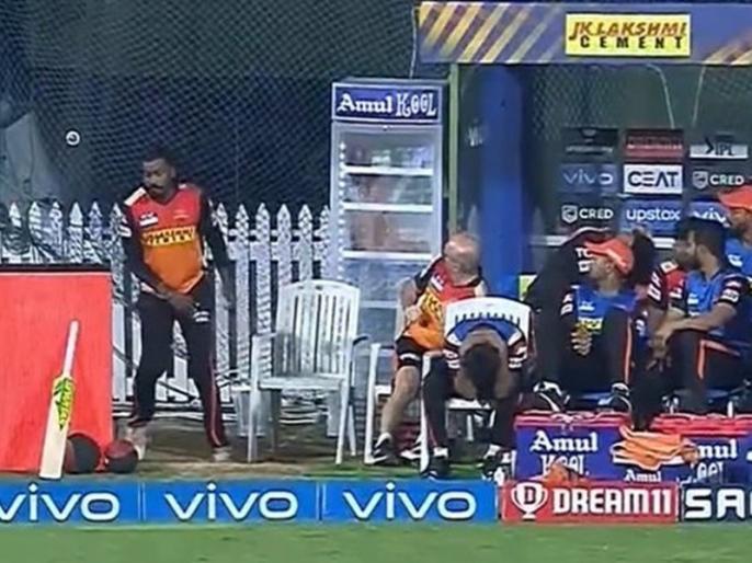 Jonny Bairstow cracks open the Fridge glass as he hits 83m SIX on Boult | IPL 2021: बल्लेबाज ने खेला ऐसा खतरनाक शॉट कि चकनाचूर हो गया रेफ्रिजरेटर का कांच, देख हर कोई रह गया हैरान