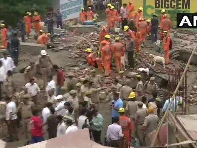 Ghaziabad: building collapsed, 4 injured, Rescue operation is underway | गाज़ियाबाद:हल्की बारिश में जमींदोज हो गई पांच मंजिला निर्माणाधीन इमारत, एक की मौत कई घायल