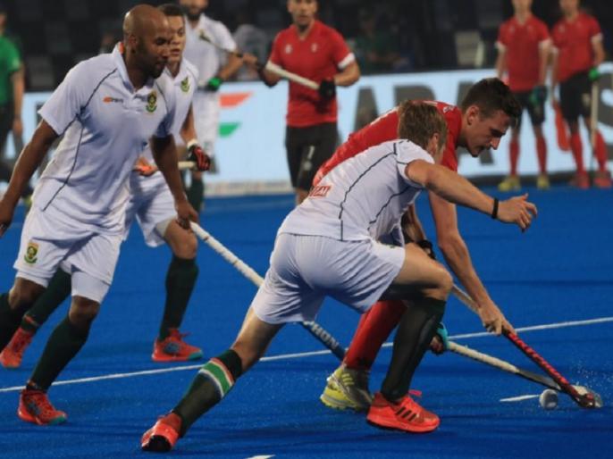 hockey world cup 2018 group c canda and south africa match ends with 1 1 draw   हॉकी वर्ल्ड कप 2018: कनाडा की टीम नहीं खोल सकी जीत का खाता, दक्षिण अफ्रीका से मैच ड्रॉ