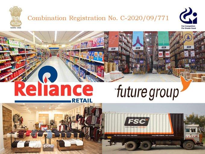 US e-commerce company Amazon shock cciReliance Future Group approves Rs 24713 crore deal | अमेरिका की दिग्गज ई-कॉमर्स कंपनी एमेजॉनको झटका,रिलायंस-फ्यूचर ग्रुप की24713 करोड़ रुपए डील को मंजूरी