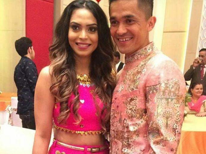 Happy Birthday Sunil Chhetri: Sunil Chhetri married to his coach's doughter and long time girlfriend | सुनील छेत्री ने अपने कोच की बेटी से की थी लव मैरेज, बेहद खूबसूरत है इनकी बीवी