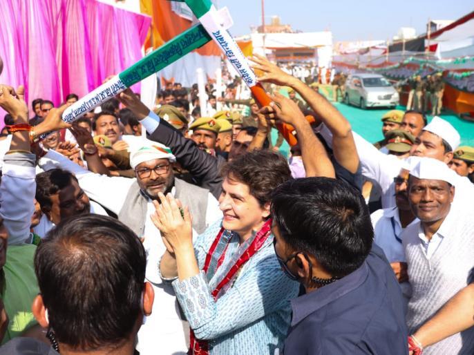 Mathura kisanmahapanchayat Priyanka Gandhi attacked PM narendra Modi land of breaks the ego farmer up | किसान महापंचायतःप्रियंका गांधी ने पीएम मोदी पर किया हमला, कहा-मथुरा की धरती अहंकार को तोड़ती है...