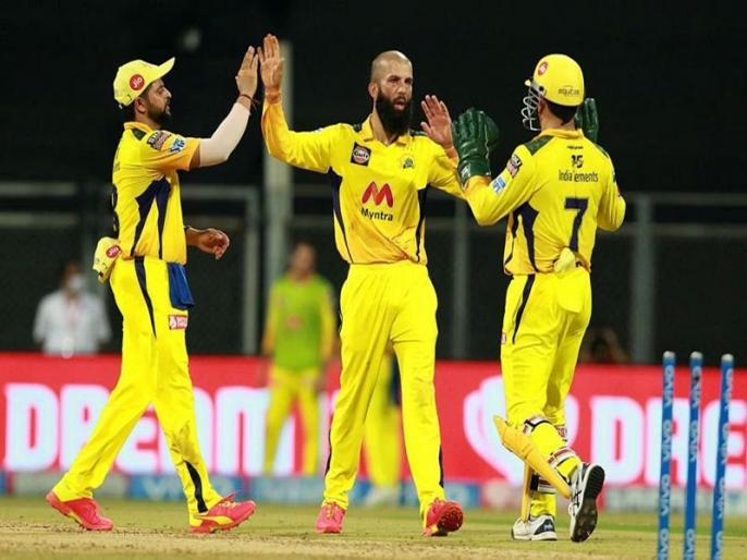 chennai super kings win against Rajasthan Royals Moeen Ali and Ravindra Jadeja became hero   IPL 2021: गेंदबाजों ने फिर दिलाई चेन्नई सुपरकिंग्स को जीत, राजस्थान रॉयल्स को 45 रनों से हराया