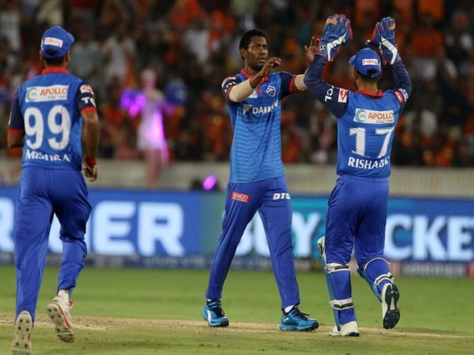 IPL 2019, SRH vs DC: Delhi Capitals won by 39 runs | IPL 2019, SRH vs DC: रबाडा-मॉरिस और पॉल की तिकड़ी ने पलटा मैच, दिल्ली ने दर्ज की जीत
