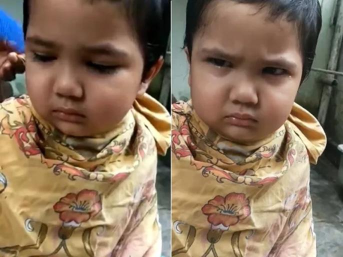 Child hilarious reaction during haircut goes viral watch full video here | VIDEO: हेयरकट कराने गए छोटे से बच्चे को आया नाई पर गुस्सा, रोते हुए कहा- तुम्हारे सारे बाल काट दूंगा...