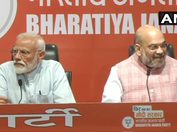 lok sabha election 2019 On last day of campaign, PM Modi attends BJP press briefing; Rahul Gandhi addresses media. | लोकसभा चुनाव 2019ःपीएम मोदी बनाम कांग्रेस अध्यक्ष राहुल गांधी, प्रेस कांफ्रेंस में दोनों ने छोड़े जुबानी तीर