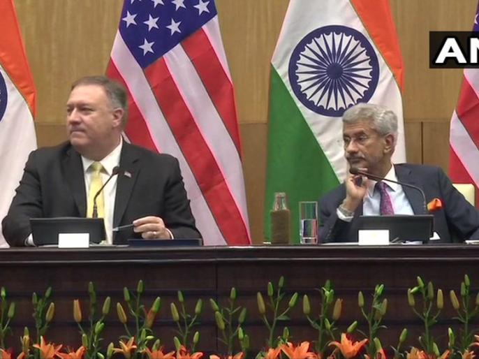 US Secretary of State Mike Pompeo and EAM S Jaishankar address the media in Delhi | जयशंकर ने पोम्पिओ से कहा-राष्ट्रीय हित सर्वाच्च मुद्दा, अमेरिका और रूस दोनों मेरे लिए महत्वपूर्ण