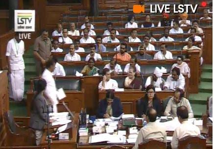 Congress President and MP from Wayanad, Rahul Gandhi in Lok Sabha, after taking oath. | कांग्रेस अध्यक्ष राहुल गांधी ने अंग्रेजी में ली लोकसभा की सदस्यता की शपथ