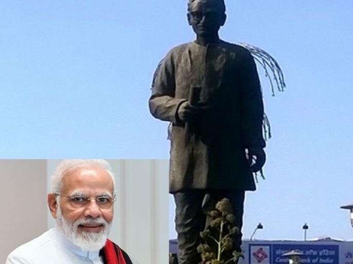 A 63-feet tall statue of Pandit Deendayal Upadhyay, built in Varanasi, will be unveiled tomorrow by PM Narendra Modi mahakal express   पीएम मोदी बनारस में RSS के अग्रणी विचारक की 63 फीट ऊँची प्रतिमा का करेंगे अनावरण, काशी महाकाल एक्सप्रेस को भी दिखाएंगे हरी झंडी