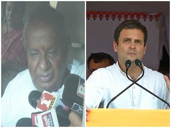 Deve Gowda had a telephonic conversation with Rahul Gandhi to discuss the current political situation in Karnataka | कर्नाटक में सत्ता संघर्ष: राहुल गांधी ने एचडी देवगौड़ा को किया कॉल, इन मुद्दों पर हुई चर्चा
