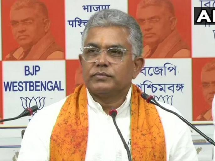 Police in West Bengal prevented BJP state president Dilip Ghosh from visiting cyclone affected areas | पश्चिम बंगाल में पुलिस ने भाजपा प्रदेश अध्यक्ष दिलीप घोष को चक्रवात प्रभावित इलाकों में जाने से रोका