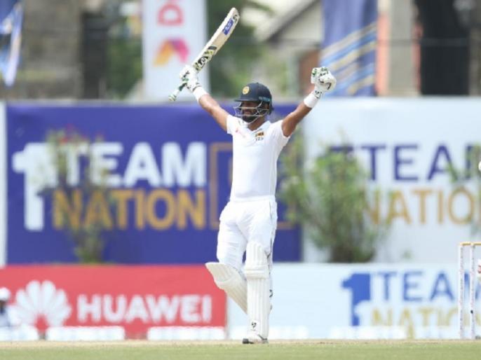 Sri Lanka beat New Zealand by 6 wickets in Galle Test, Dimuth Karunaratne scores century | SL vs NZ: दिमुथ करुणारत्ने का दमदार शतक, श्रीलंका ने पहले टेस्ट में न्यूजीलैंड को 268 रन का लक्ष्य हासिल कर दी मात