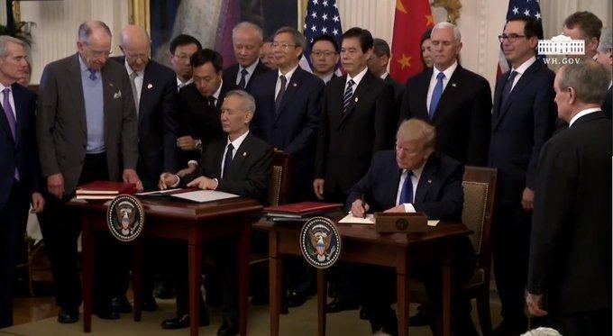 US, China sign 'Phase One' of trade deal | अमेरिका ने चीन के साथ पहले चरण के व्यापार समझौते पर किए हस्ताक्षर