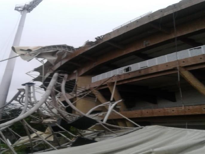 Mumbai Rains Damage Roof of DY Patil Cricket Stadium | मुंबई की बारिश और तेज हवाओं से डीवाई पाटिल क्रिकेट स्टेडियम को पहुंचा नुकसान, छत का एक हिस्सा हुआ क्षतिग्रस्त