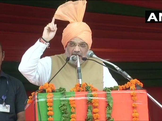 Home Minister Amit Shah in Jind, Haryana Article 370 was a hurdle in the way of Sardar Patel's dream of one India. | जींद रैली: अमित शाह बोले-सरदार पटेल के अखंड भारत के रास्ते में अनुच्छेद 370 रुकावट था