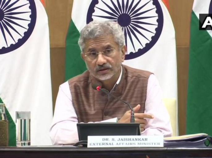 External Affairs Minister S Jaishankar briefing the media on first 100 days of his ministry | विदेश मंत्री एस जयशंकर ने कार्यकाल के 100 दिन पूरे होने पर गिनाई उपलब्धियां, कहा- हमारे पास पड़ोसियों से अलग तरह की चुनौती है