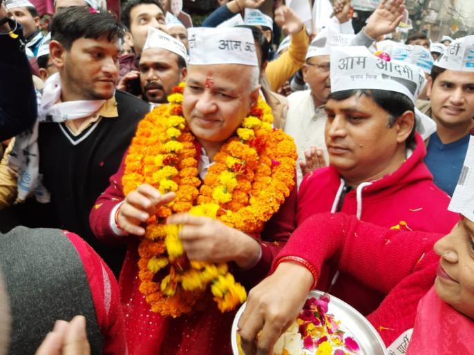 Delhi Assembly Elections: Manish Sisodia set out on padyatra before filing nomination | दिल्ली चुनावःनामांकन करने से पहले पदयात्रा पर निकले मनीष सिसोदिया, कहा- काम पर वोट दो