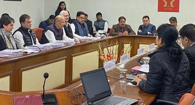 Congress delegation reached Human Rights Commission, many leaders including Rahul, Priyanka Gandhi arrived, know what is the reason | मानवाधिकार आयोग पहुंचा कांग्रेस का प्रतिनिधिमंडल,राहुल, प्रियंका गांधी सहित कई नेता पहुंचे, जानिए क्या है कारण