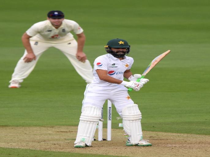 England vs Pakistan, 2nd Test: Fawad Alam makes comeback after 11 years, out for duck   ENG vs PAK: फवाद आलम 11 साल बाद वापसी करते हुए डक पर लौटे, अनोखे बैटिंग स्टांस की वजह से सोशल मीडिया में छाए