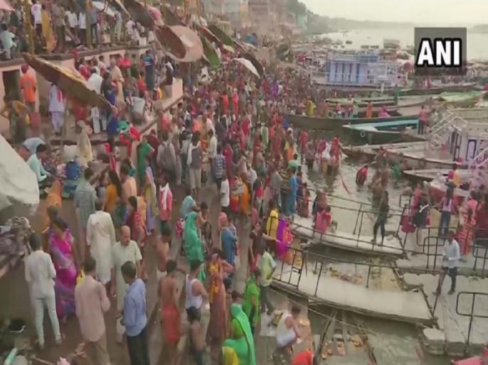 Ganga Dussehra 2019 Devotees take holy dip in river Ganga in Varanasi, Haridwar and other cities | Ganga Dassehra 2019: गंगा दशहरा आज, वाराणसी सहित गढ़मुक्तेश्वर और हरिद्वार में गंगा किनारे उमड़ा जनसैलाब