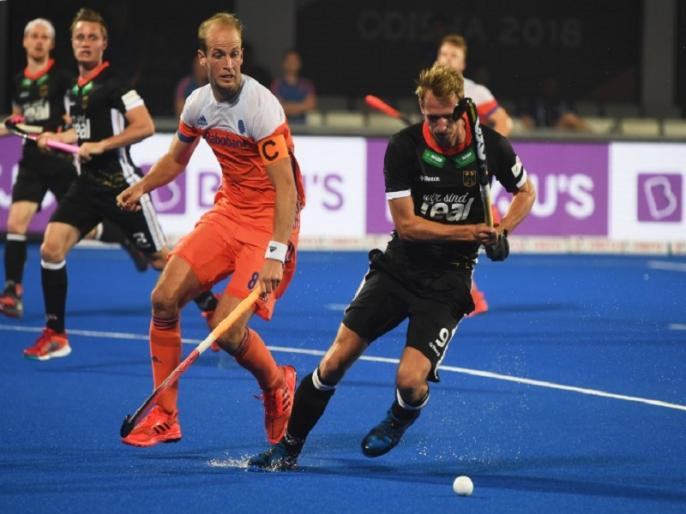 hockey world cup 2018 germany beat netherlands by 4 1 more close to quarter finals | हॉकी वर्ल्ड कप: जर्मनी ने नीदरलैंड को 4-1 से दी मात, क्वॉर्टर फाइनल के करीब पहुंचा