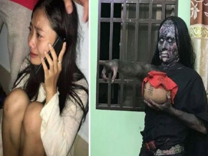 Cambodian Actress Allegedly Gets shoot Possessed By A Spirit While Playing Ghost For A Horror Film, video viral | जब हॉरर फिल्म में भूत की एक्टिंग करते वक्त सच में एक्ट्रेस के अंदर घुस गई आत्मा, देखें वीडियो