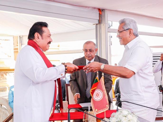 Sri Lanka's new Cabinet sworn inPresident Rajapaksa retains Defence Ministry PM Rajapaksa takes Finance | श्रीलंका मंत्रिमंडलःराजपक्षे परिवार के चार सदस्य मंत्री बने,राष्ट्रपति गोटाबाया ने रक्षा अपने पास रखा, वित्त मंत्रालय दियाभाई को