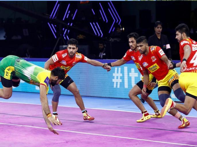Pro Kabaddi League 2019: Gujarat Fortune Giants beat Patna Pirates by 29-26 | Pro Kabaddi: लगातार 6 हार के बाद गुजरात फॉर्च्यूनजायंट्स को मिली जीत, पटना पाइरेट्स को 29-26 से हराया