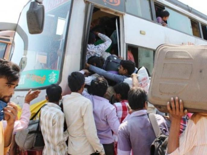 gujarat administration is meeting migrant workers to sto -migrating | गुजरात: पलायन रोकने के लिए प्रवासी कामगारों से मुलाकात कर रहा है गुजरात प्रशासन