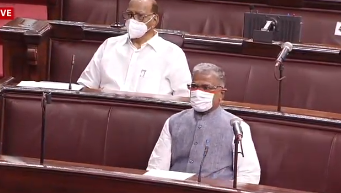 BJP Rajya Sabha MP JP Nadda moves motion to elect NDA candidate Harivansh as the Deputy Chairman of the House | उपसभापति पदः एनडीए ने मारी बाजी, JDU केहरिवंश सिंह ने RJD के मनोज झा को हराया