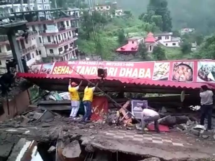 Himachal Pradesh: 10 people rescued from debris of building collapsed due to heavy rain | हिमाचल प्रदेश: कुमारहट्टी में ढही ढाबे की इमारत, दो दर्जन फौजियों के दबे होने की आशंका, 10 लोगों को निकाला गया
