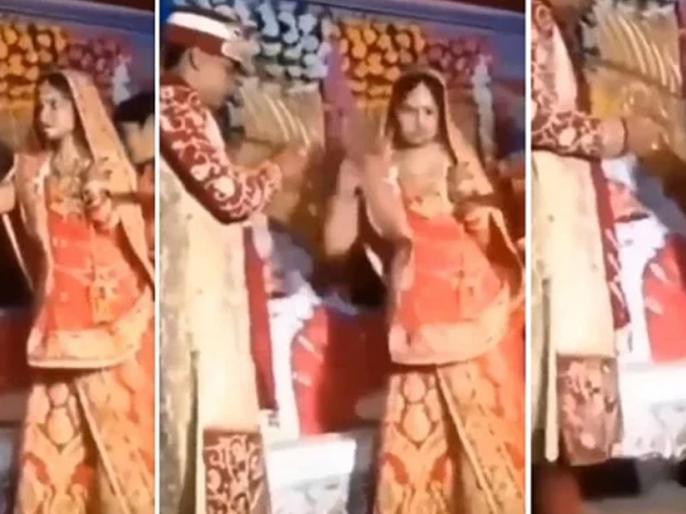 The bride showed her attitude on the stage, the video went viral | स्टेज पर ही दुल्हन ने दिखाए तेवर, वीडियो वायरल