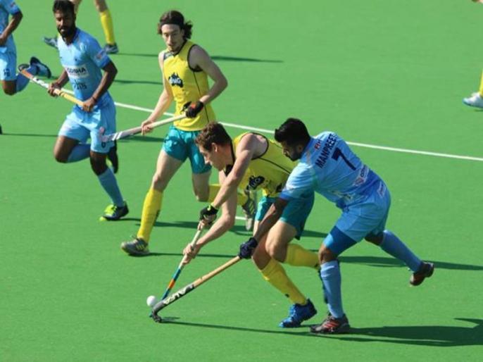 India loses 4-0 to Australia in the first Test | हॉकी: भारत को मिली करारी शिकस्त, ऑस्ट्रेलिया ने 4-0 से दी मात