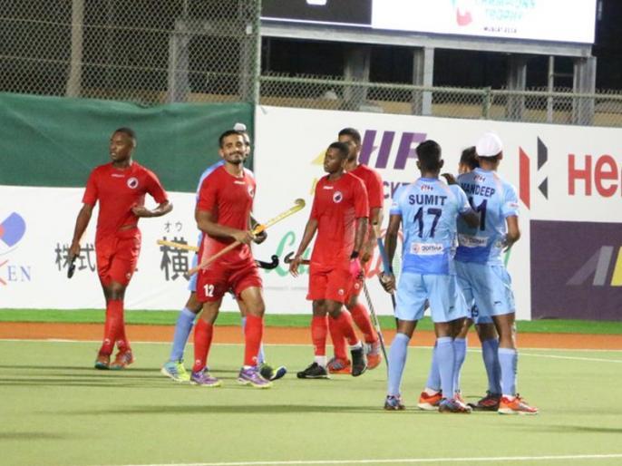 Asian Champions Trophy: Indian Men's Hockey Team beat hosts Oman by 11-0 in their opening match | Asian Champions Trophy: भारत ने जीत के साथ की टूर्नामेंट की शुरुआत, मेजबान ओमान को हराया