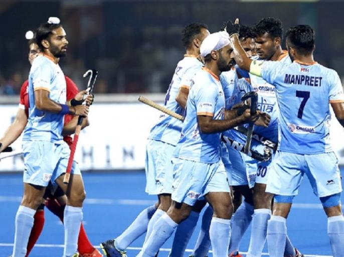 hockey world cup 2018 pool c india beat canada by 5 1 to reach quarter final | हॉकी वर्ल्ड कप: कनाडा को 5-1 से रौंदकर भारत क्वॉर्टर फाइनल में, बेल्जियम को खेलना होगा क्रॉस-ओवर