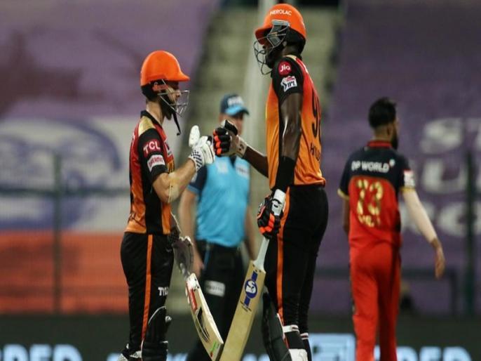 kane Williamson Holder see through wobbly Sunrisers chase to knock out Royal Challengers | IPL 2020 से बाहर हुई विराट कोहली की टीम, हार के साथ ही RCB ने बनाए कई शर्मनाक रिकॉर्ड