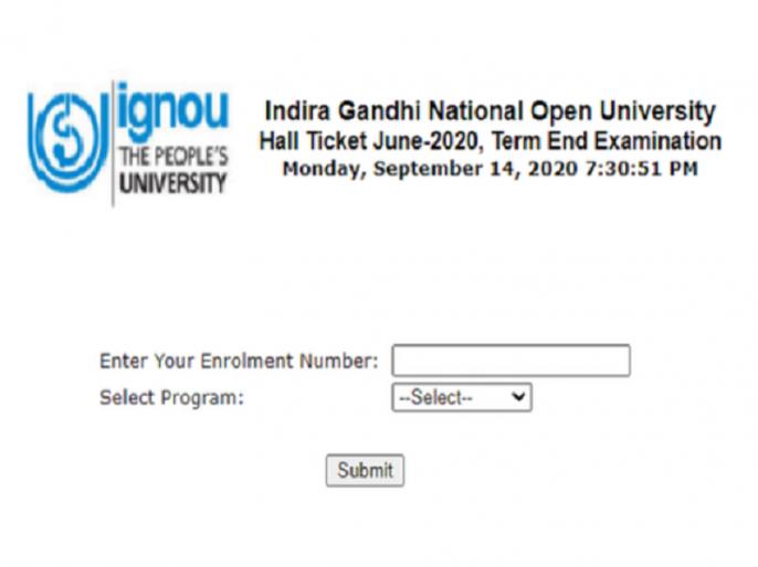 IGNOU June TEE Hall Ticket 2020: IGNOU Exam Admit Card released, download here | IGNOU June TEE Hall Ticket 2020: इग्नू के परीक्षा के एडमिट कार्ड जारी, ऐसे करें डाउनलोड