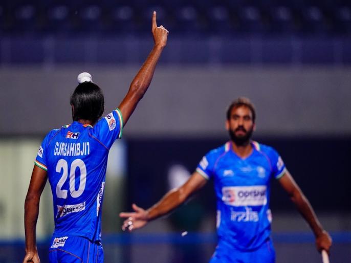 Indian Men's Hockey Team beat Malaysia 6-0 to start Olympic Test Event | भारत की मलेशिया पर 6-0 से जीत, मनदीप-गुरसाहिबजीत ने दागे 2-2 गोल