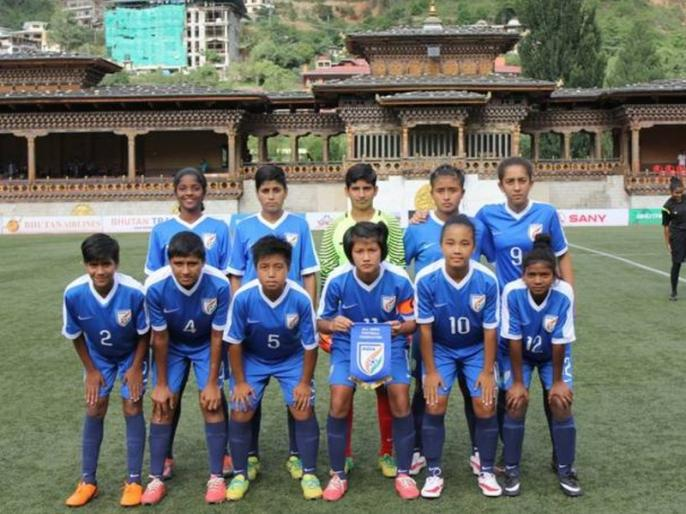 India U-15 Women's football team beat Sri Lanka 12-0 in SAFF Championship | भारतीय अंडर-15 महिला फुटबॉल टीम का कमाल, श्रीलंका को 12-0 से रौंदा