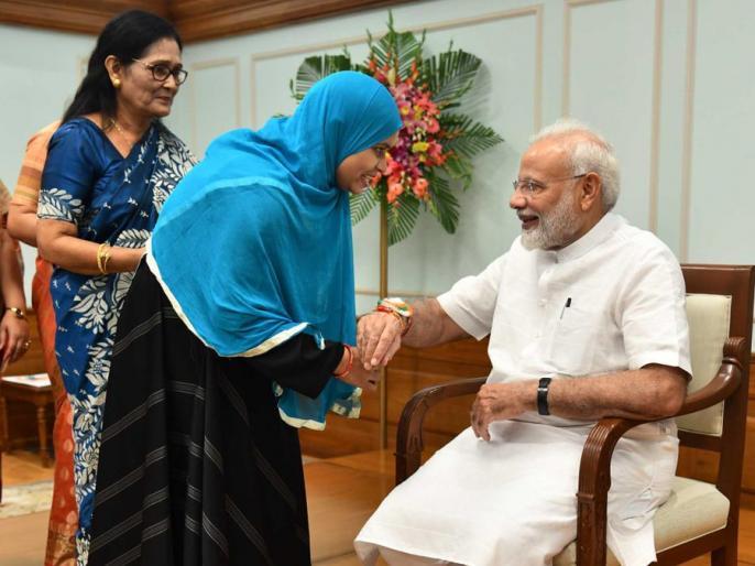 Ishrat Jahan tied Rakhi to Prime Minister Modi, said- thank you for ending triple talaq | इशरत जहां ने प्रधानमंत्री मोदी को बांधी राखी, कहा- तीन तलाक खत्म करने का शुक्रिया