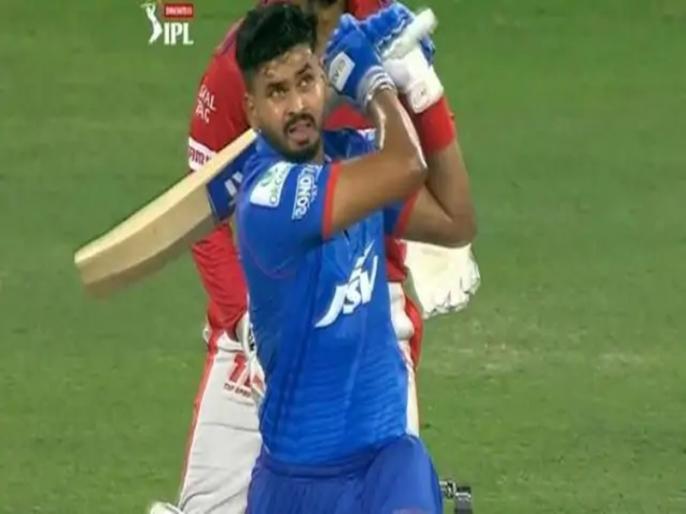 IPL 2020 Delhi Capital Captain Shreyas Iyer humongous sixes Against KXIP | IPL 2020: पंजाब के खिलाफ श्रेयस अय्यर ने मारा ऐसा छक्का, स्टेडियम में गुम हो गई गेंद, और फिर...