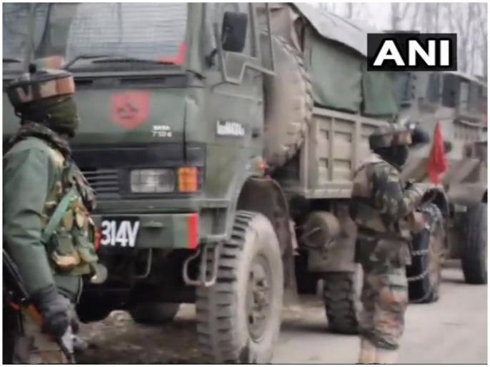 Encounter between terrorists and security forces Pulwama Jammu and kashmir live news upadates | जम्मू-कश्मीर: पुलवामा में सेना और आतंकवादियों के बीच मुठभेड़ में एक जवान शहीद, दो आतंकियों को घेरा