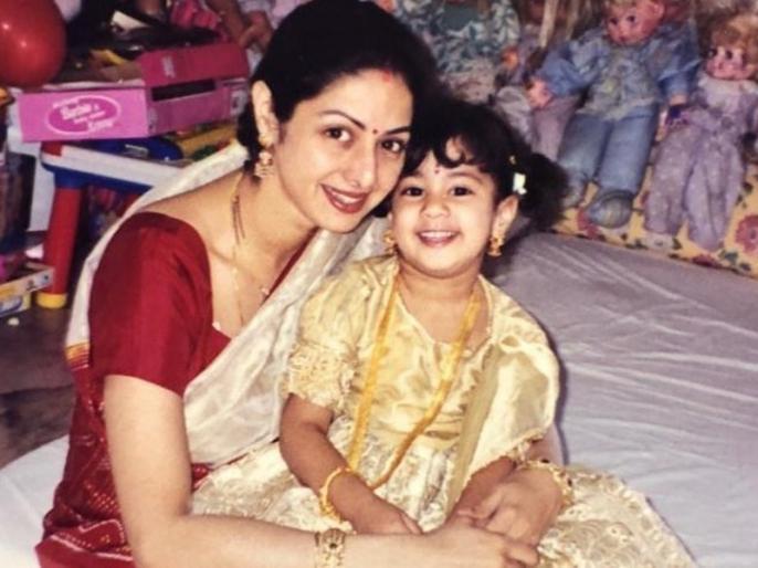 Janhvi Kapoor share Sridevi old photo and wish her mothers day   श्रीदेवी की इस पुरानी तस्वीर को शेयर कर जाह्नवी कपूर ने किया Mother's Day विश, हर मां के लिए लिखी ये बात