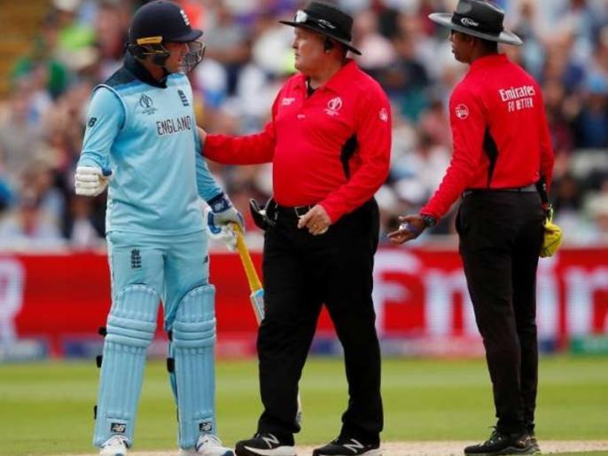 ICC World CUP 2019: Jason Roy Fined For Breaching Code Of Conduct, for Refusing To Walk After Controversial Dismissal | AUS vs ENG: जेसन रॉय पर लगा जुर्माना, विवादास्पद तरीके से आउट दिए जाने के बाद मैदान छोड़ने से किया था इनकार