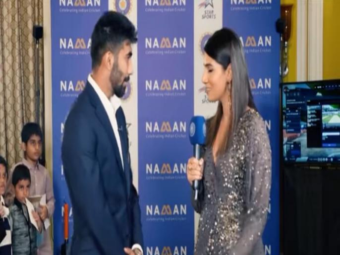 Sanjana Ganesan Fun Talk interview with Jasprit Bumrah before marriage goes viral | शादी की खबरों के बीच संजना गणेशन संग जसप्रीत बुमराह का पुराना वीडियो वायरल, फैंस जमकर ले रहे मजे