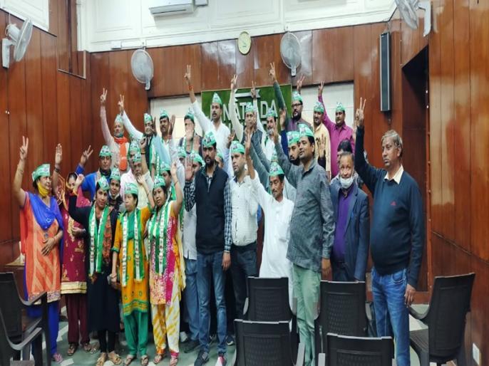 Lok Janshakti Party officials join Janata Dal United | लोक जनशक्ति पार्टी में कार्यरत पदाधिकारियों ने थामा JDU का दामन