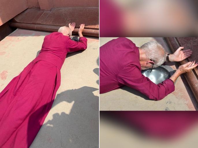 Archbishop Of Canterbury Lays Down At Jallianwala Memorial and feel Ashamed photos goes viral | जलियांवाला बाग नरसंहार के लिए दंडवत होकर ब्रिटिश आर्कबिशप जस्टिन वेल्बी ने मांगी माफी, इंटरनेट पर छाई तस्वीरें