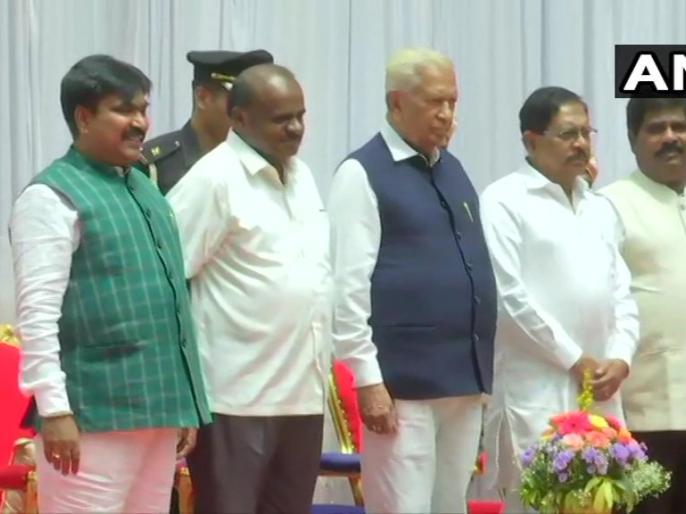 Karnataka:R Shankar & H Nagesh take oath as state cabinet ministers at Rajbhavan Bengaluru | कर्नाटक: कुमारस्वामी की सरकार ने मंत्रिमंडल का किया विस्तार, दो विधायकों ने ली मंत्री पद की शपथ
